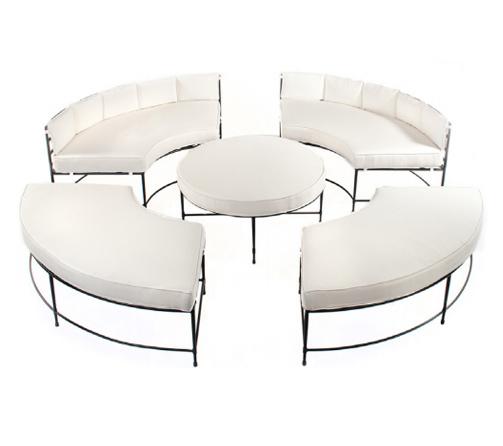 Amalfi tuxedo salon lounge set amalfi living for Amalfi chaise lounge